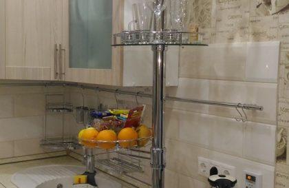 Кухня с фасадами эко-шпон рамочный цвета Туя