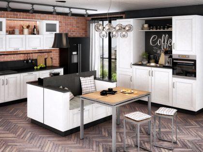 Кухня Split с рамочными фасадами из МДФ