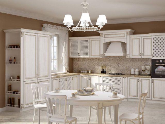 Классическая кухня Милана из массива ясеня