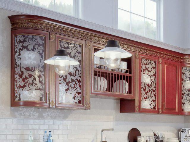 Кухня из массива дерева Наполи с фасадами в классическом стиле