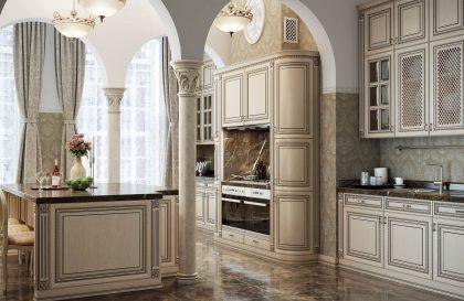Кухня Buona Sera Венеция с фасадами из массива