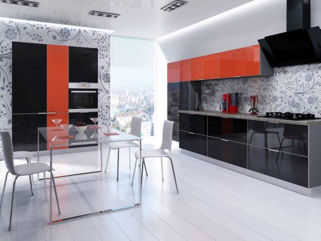 Кухня CRISTA с алюминиевой рамкой