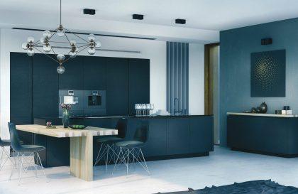 Кухня «Белфаст» с крашенными фасадами из МДФ