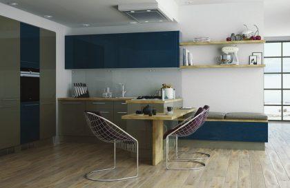 Кухня «БРИГ» с фасадами из акрилового пластика