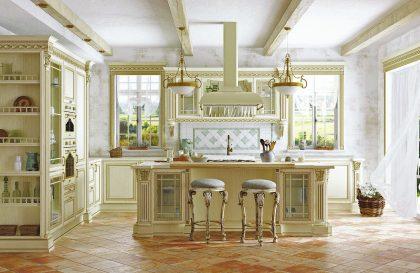 Кухня Артвуд из массива ясеня в светлом цвете