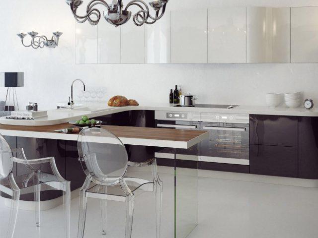 Кухня Онда с фасадами из МДФ в современном стиле