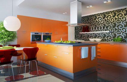 Кухня ALVA с фасадами из МДФ с нанесением эмали