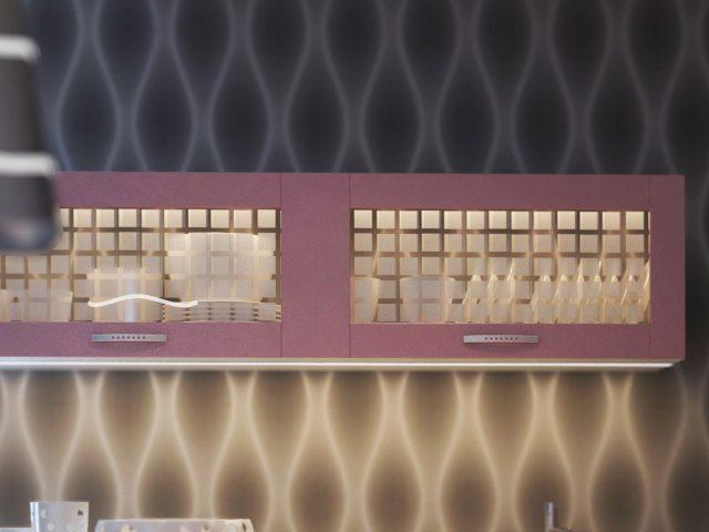 Кухня с рамочными МДФ фасадами Рэинбоу
