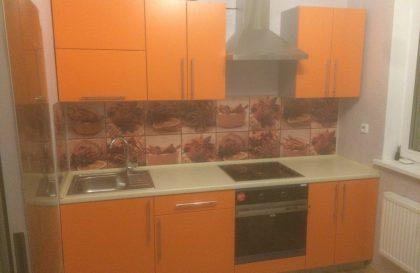 Оранжевая кухня Alva с фасадами эмаль матовая RAL 2003