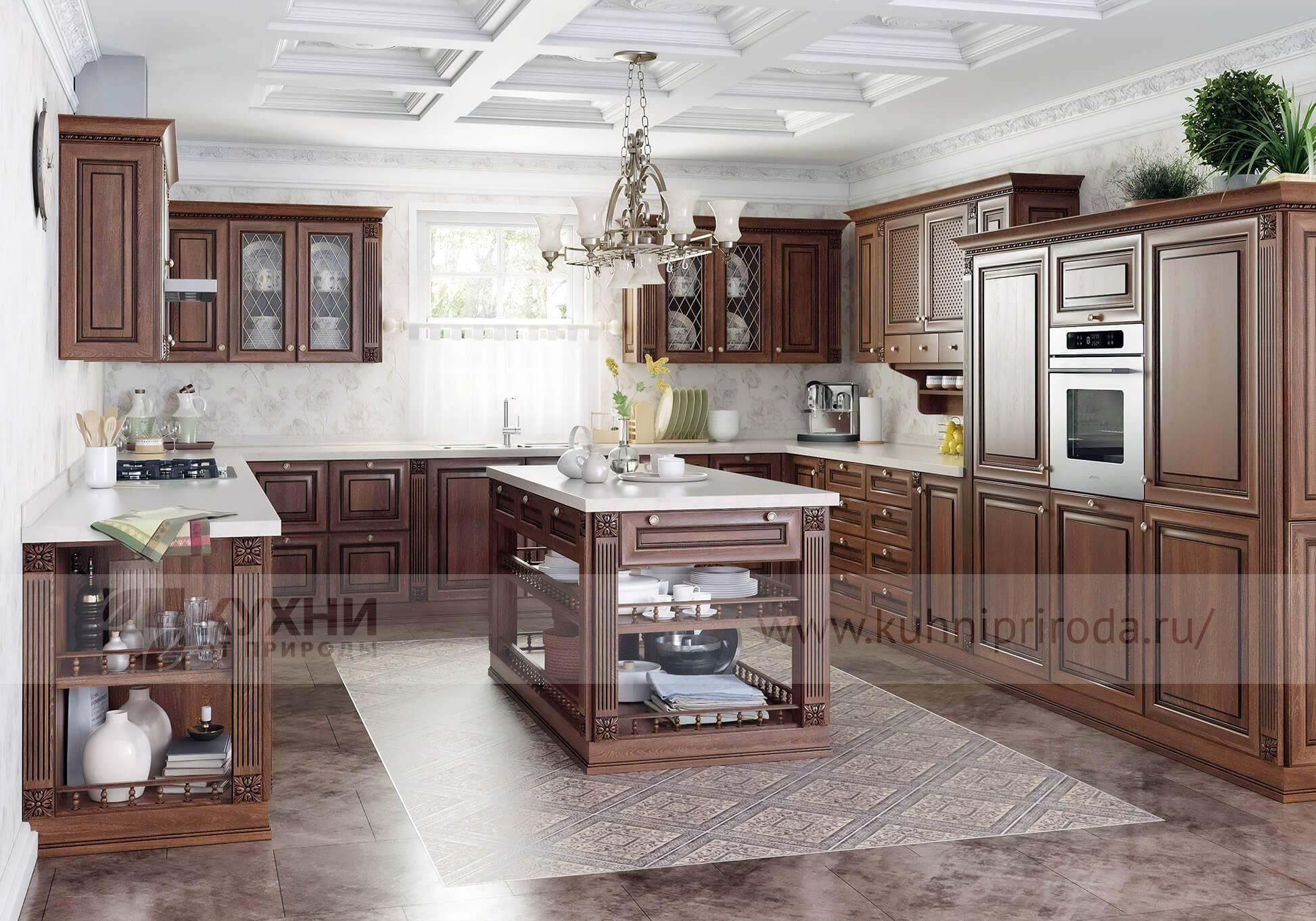 Кухня из массива дерева Флоренция в стиле классика