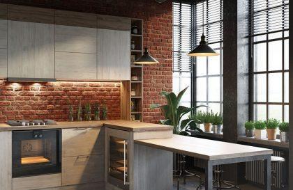 Современная кухня Mirella с фасадами из экошпона