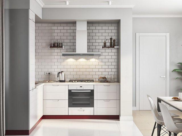 Кухня Albina с фасадами из МДФ в актуальном стиле контемпорари