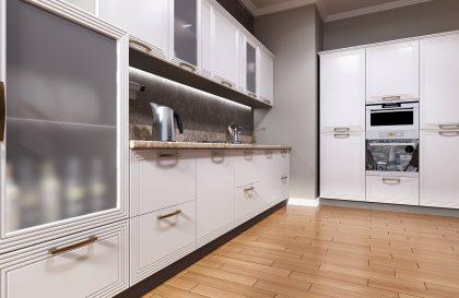 Кухня Призма с фасадами из МДФ в современном стиле