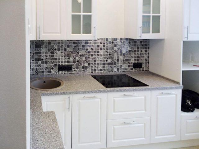 Угловая белая кухня Аликанте с фасадами из МДФ