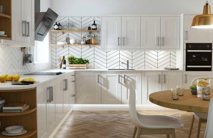 Кухня Рэинбоу с фасадами из МДФ рамки