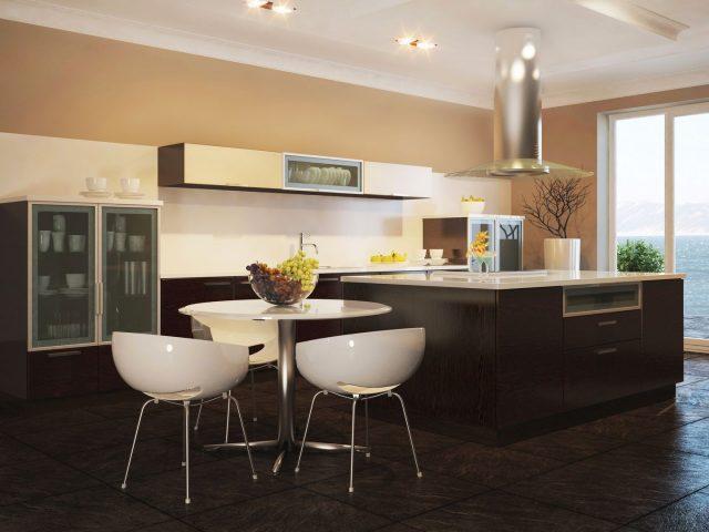 Современная кухня NOVA с фасадами из МДФ и натурального шпона