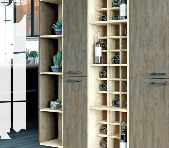 Кухня Glass в стиле Лофт с фасадами из ЛДСП + Стекло