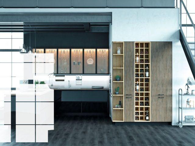 Кухня Loft Glass