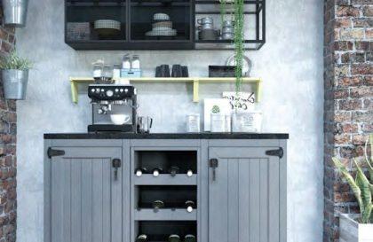 Кухня Legno в стиле Лофт с фасадами из массива ясеня