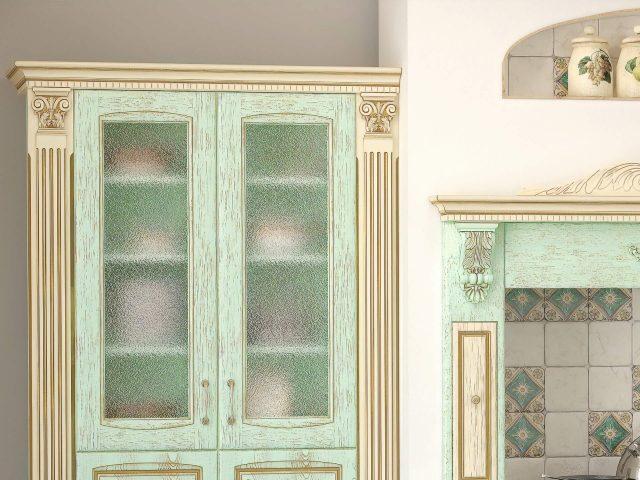 Кухня со шпонированными фасадами из МДФ Вернисаж