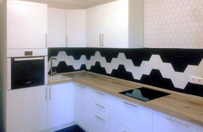Угловая белая кухни Бостон с фасадами из МДФ