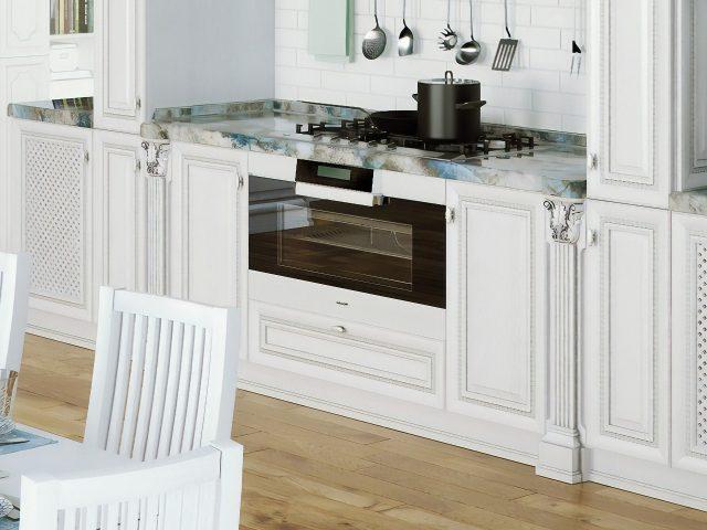 Кухня из массива дерева Лацио в стиле Классика