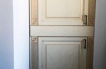 Кухня из массива дерева Милана в цвете слоновая кость