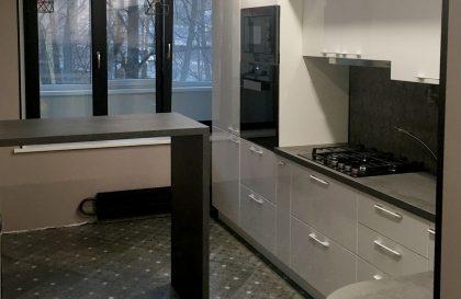 Угловая кухня Альва Металлик в матовом исполнении