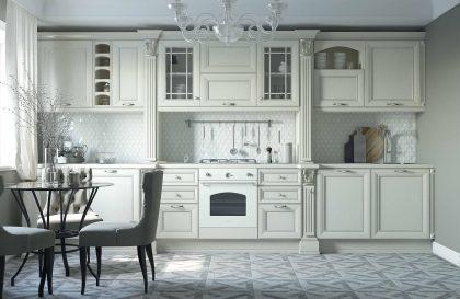 Кухня Амато из массива ясеня в классическом стиле