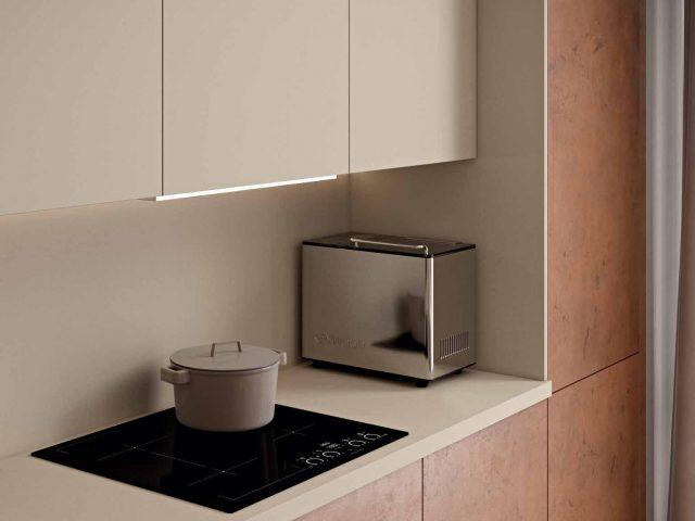 Кухня Лофт Синкрон Титан с фасадами из пластика HPL