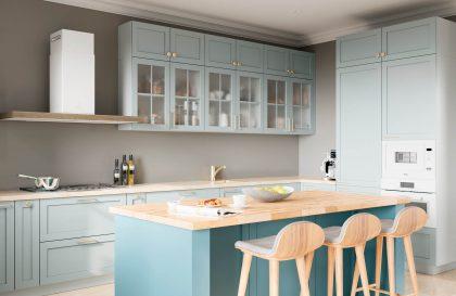 Кухня Фрост с рамочными фасадами из МДФ эмали