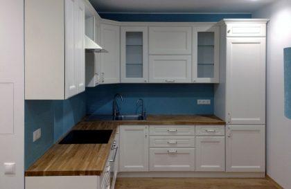 Кухня Вернисаж с фасадами из МДФ покрытыми шпоном ясеня