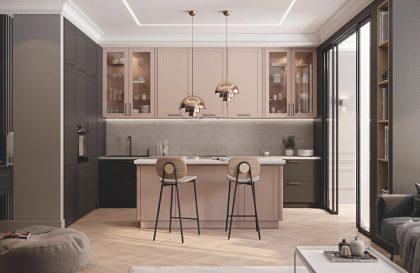 Кухня Трент с рамочными фасадами из МДФ в плёнке
