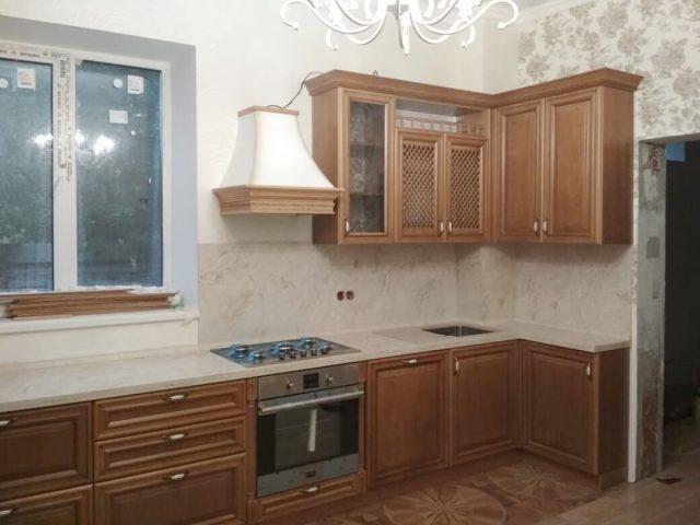Кухня из массива черешни тип 9