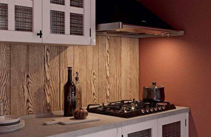 Кухня Бари в стиле Лофт с фасадами из массива и МДФ
