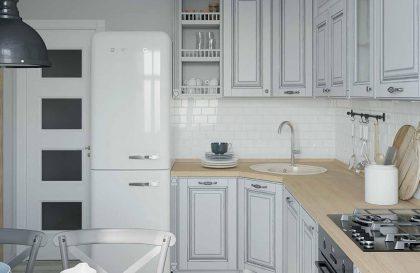 Кухня Адрия с фасадами из массива в стиле классика