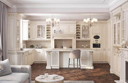 Кухня Артвуд с фасадами из массива ясеня